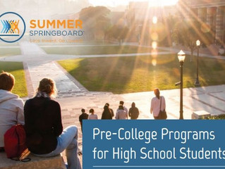 Summer Springboard: Pre-College Summer Programs for High Schoolers - Various Locations