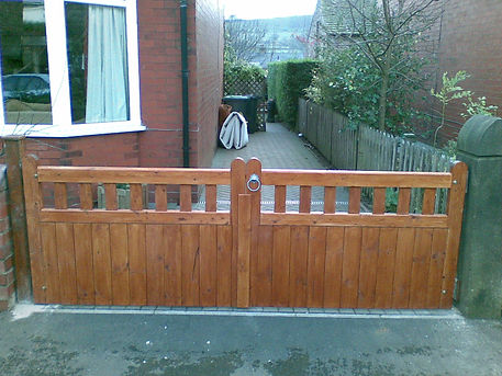 Wooden front gates