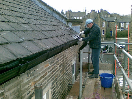 Installation of new gutters