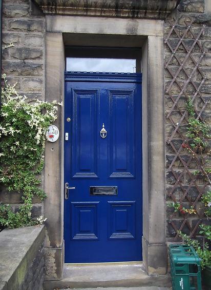 Repainted front door