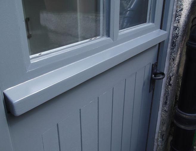 Back door grey finish