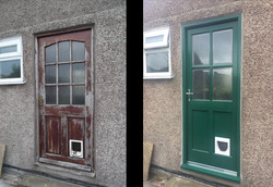 Back door (before & after)