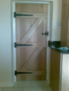Wooden kitchen door