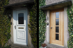 Front door (before & after)