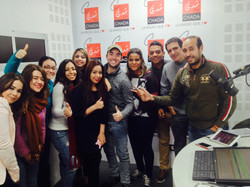 Group Picture at Radio Studio.