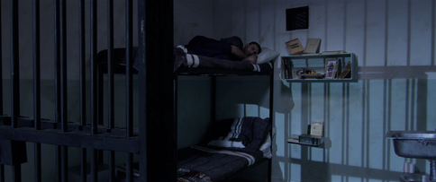 Frank's first night in his cell.