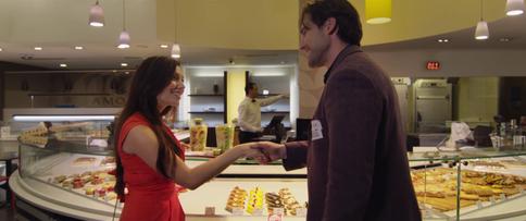 Sarah and Sean's first handshake.