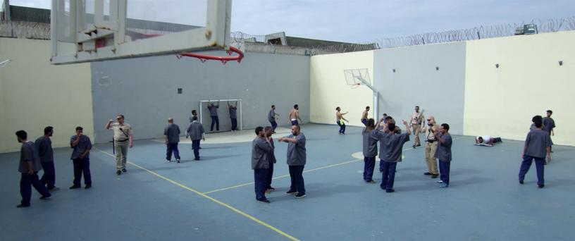 Prison atmosphere.