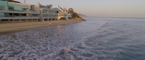 Malibu coast line.