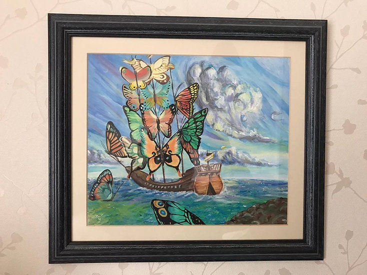 'Butterfly Boat' Painting