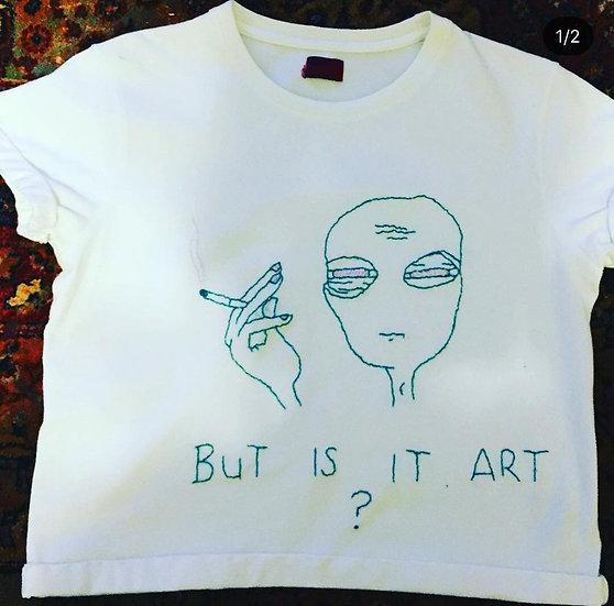 'But is it Art?' Tee Size S (UK 8)