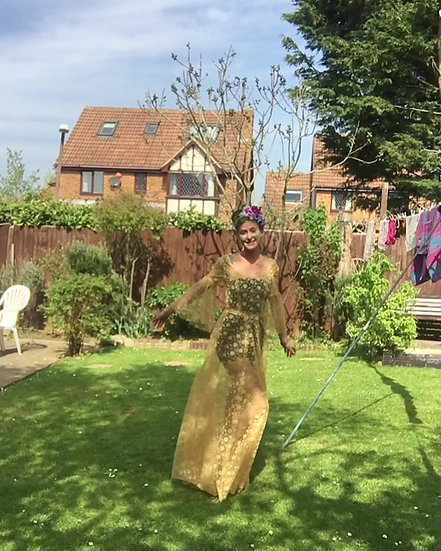 'Golden Gown' Size S (UK 8)