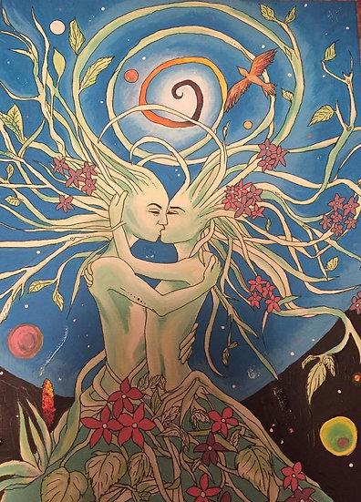 Kiss of Zaia painting