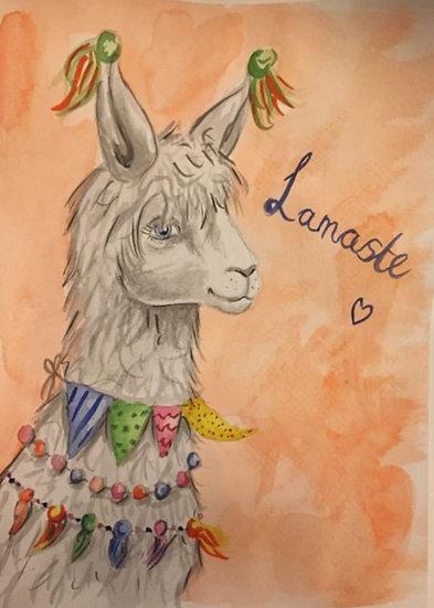 'Lamaste' Watercolour