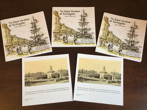 Soft-back version now available via our shop 'The Royal Harbour of Ramsgate' by Janet Munslow