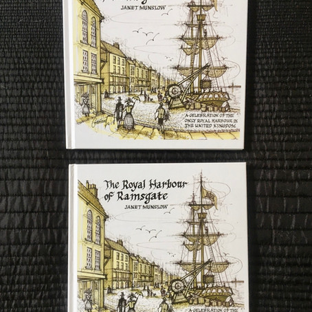 """The Royal Harbour of Ramsgate"" hardback book by Janet Munslow is now available to purchase locally"