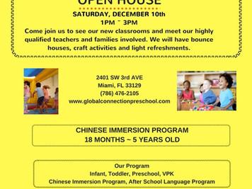 Preschool Open House December 10th