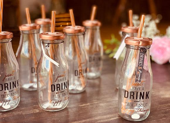 Trinkgläser Glas/Kupfer
