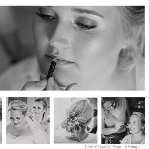 Vintage Wedding Braut-Make-Up