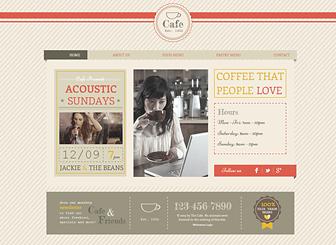 Boho Cafe Website Template