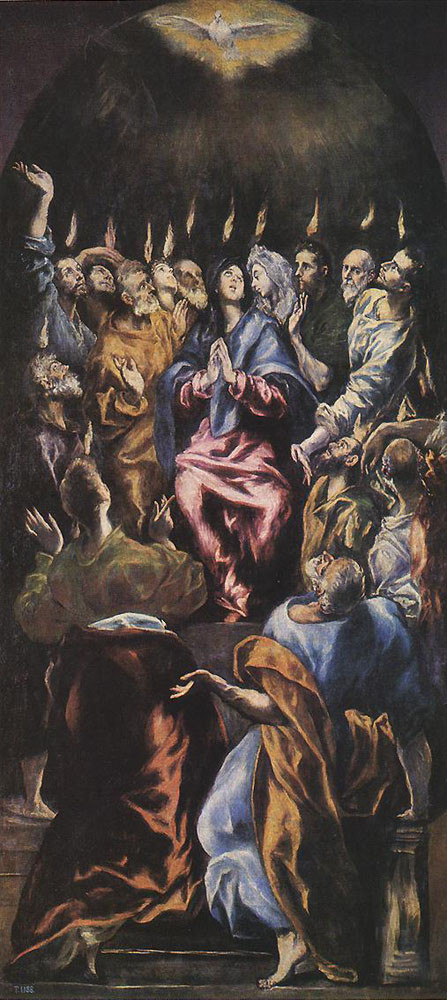Pentecost (1596-1600), El Greco, Museo del Prado