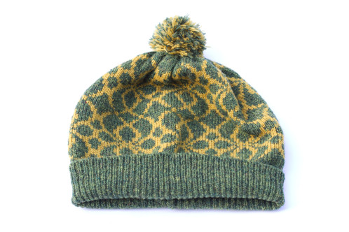 Helios hat - Shetland wool hat in moss green d87813217df