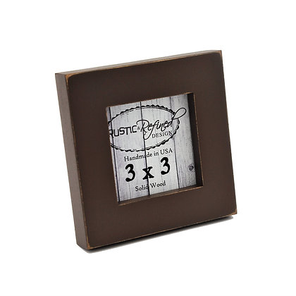 "3x3 1"" Gallery Picture Frame - Chocolate"