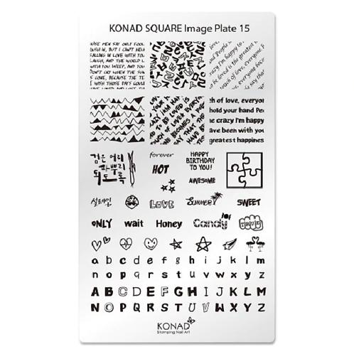 Konad Square Image Plate - 15