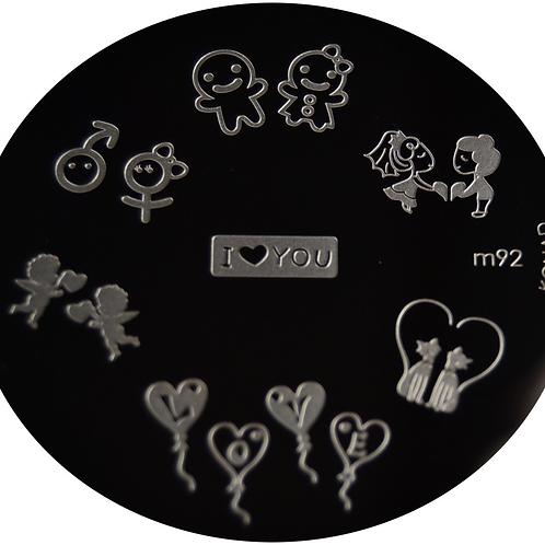 Konad Image Plate - M92
