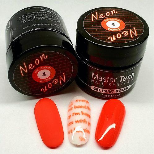 MT Neon Gel Paint #4 Orange 5ml