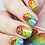 Thumbnail: WATER DECAL - N678 RAINBOW CRACKLE BUTTERFLY