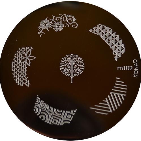 Konad Image Plate - M102