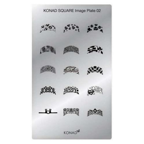 Konad Square Image Plate - M02