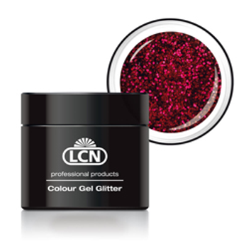 LCN GLITTER GEL - #8 RED 5ML