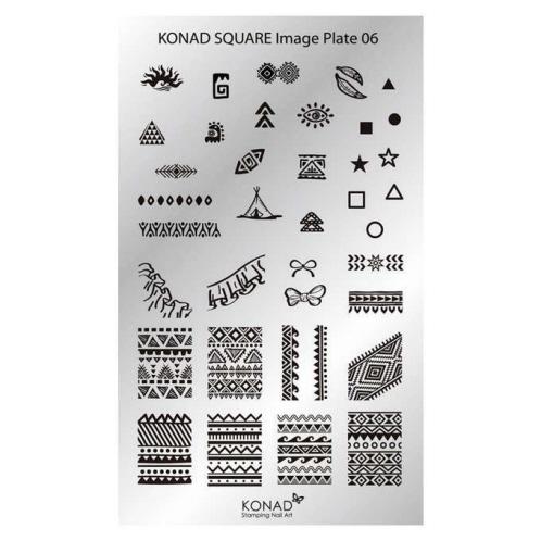 Konad Square Image Plate - M6
