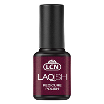 LAQUISH PEDICURE POLISH - #20 SEDUCTION IN BLACK CHERRY 8ML
