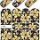 Thumbnail: LWE Water Decal - J195 Gold Foil Paisley