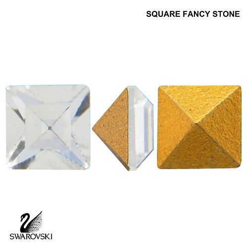 Swarovski Crystal Vintage Square (Pointed Back) (6pc)