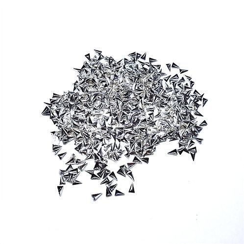 Silver Metal Triangle 48pc