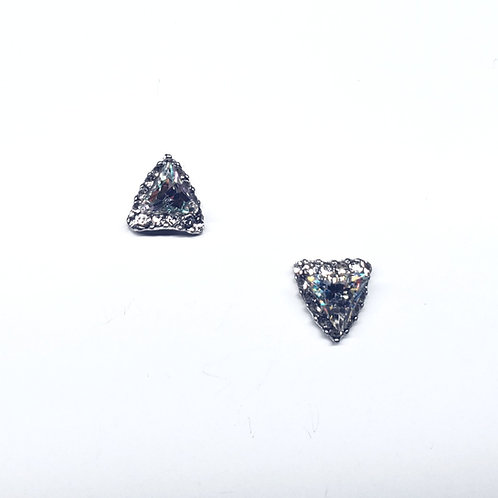Crystal AB Triangle (2pc)