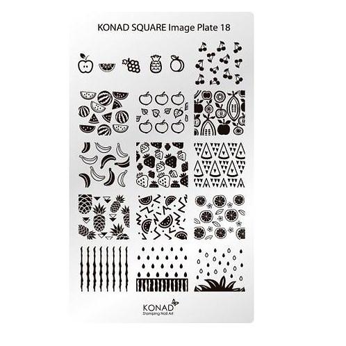 Konad Square Image Plate - 18