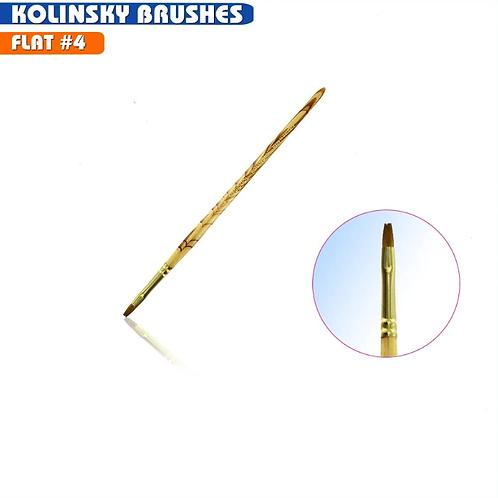 Kolinsky Brush - Flat #4