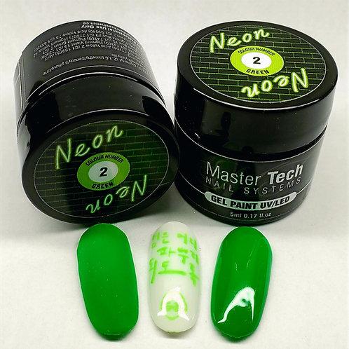 MT Neon Gel Paint #2 Green 5ml