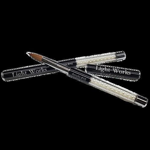 LWE Pearl Acrylic Brush - Oval #10