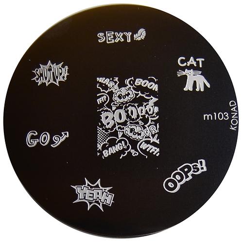 Konad image Plate - M103