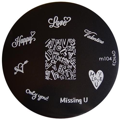 Konad Image Plate - M104