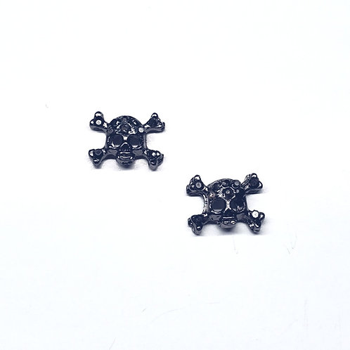 Crystal Mini Skull & Cross Bones (2pc)
