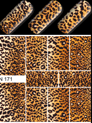 WATER DECAL - N171 LEOPARD