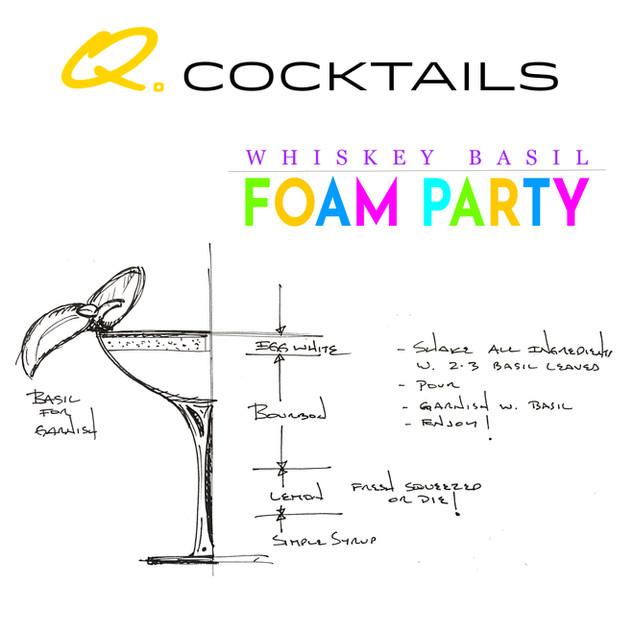 Whiskey Basil Foam Party