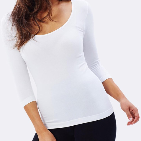 Bamboo Clothing Womens 3/4 Sleeve Top